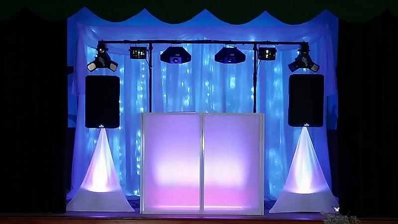 12ft - 3.25m LED Star-lit Wedding Backdrop - Happy Sounds Mobile Disco
