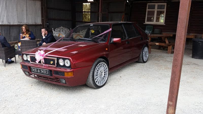 Wedding Car - Lancia - Barnutopia Weddings Oswestry - Happy Sounds Mobile Disco