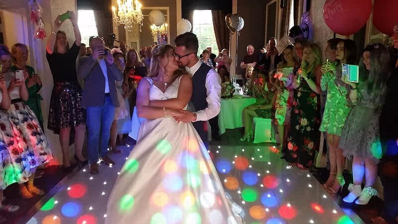 First Dance Kiss - Wedding - Sweeney Hall Oswestry - Happy Sounds Mobile Disco