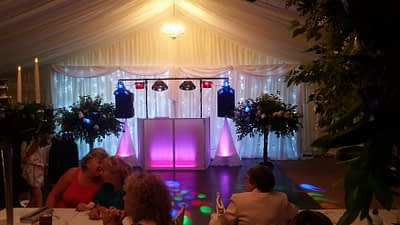 Gallery - Star-lit LED Wedding backdrop for Mr and Mrs Renshaw - High Gate Barns, Bettws - Happy Sounds Mobile Disco