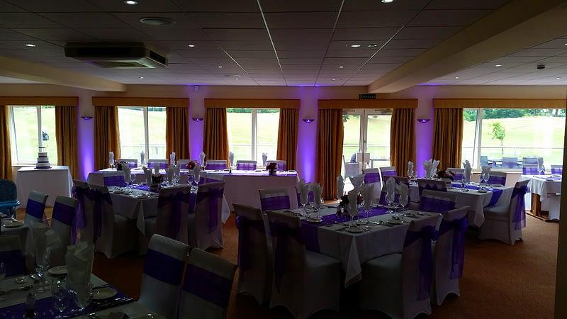 Purple Uplighting - Up Lighting - Happy Sounds Mobile Disco