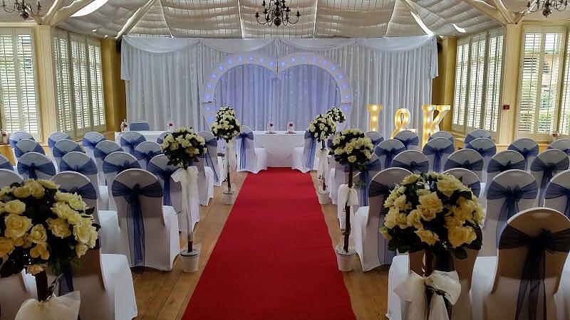 Starlit wedding backdrop ice white Hire - Happy Sounds Mobile Disco