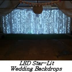 LED Star-Lit Backdrop Hire - Happy Sounds Mobile Disco Prices