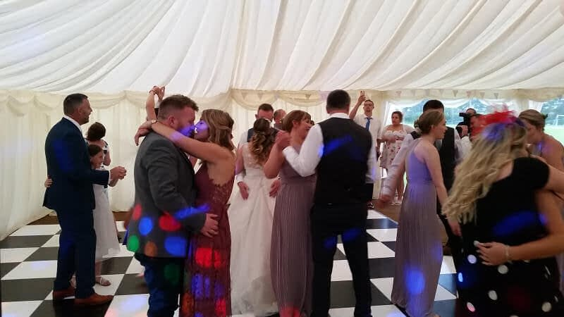 First Dance - Marquee Wedding - Pontesbury - Happy Sounds Mobile Disco