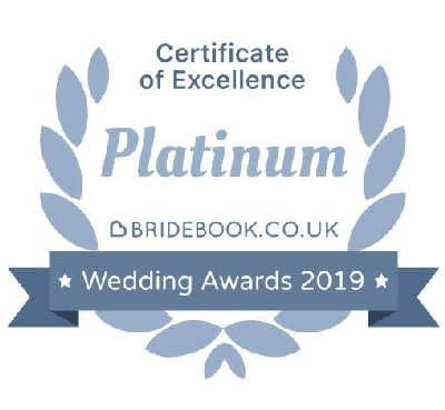 Platinum Award of Excellence - Bridebook Wedding Awards 2019 - Happy Sounds Mobile Disco