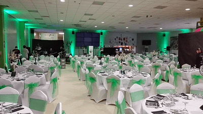 TNS Awards Ceremony, Up lighting Hire - The Venue at Park Hall - Happy Sounds Mobile Disco