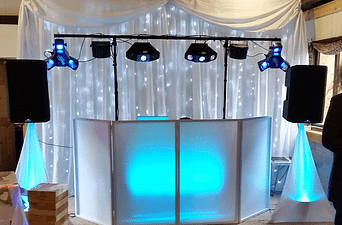 Barnutopia - Wedding Fayre - Star-lit Wedding Backdrop - Happy Sounds Mobile Disco