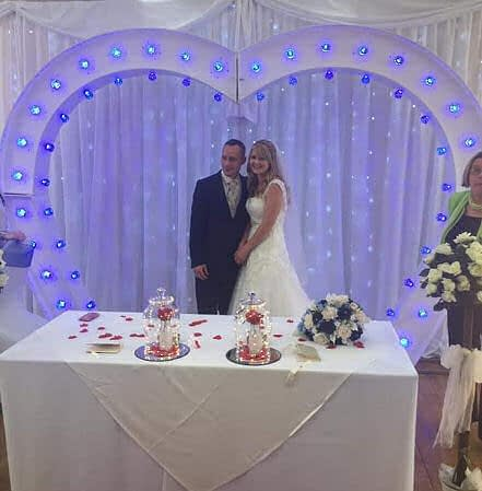 Married in front of a Starlit backdrop - Happy Sounds Mobile Disco