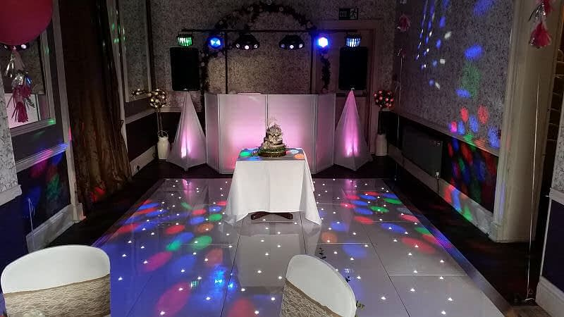 Pink Colour-wash - LED Dance Floor - Wedding - Sweeney Hall Oswestry - Happy Sounds Mobile Disco