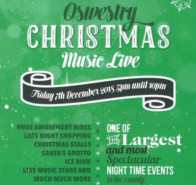Oswestry Christmas Live - PA Hire - Happy Sounds Mobile Disco