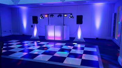 Mr and Mrs Jones - Dance floor and Purple lighting - Tern Hill Hall Market Drayton. - Happy Sounds Mobile Disco