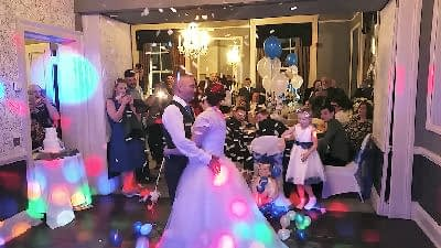 Wedding Reception - First Dance - Sweeney Country House Hotel - Oswestry - Happy Sounds Mobile Disco