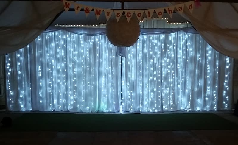 24ft - 7.5m Led Star-lit Wedding Backdrop - Happy Sounds Mobile Disco