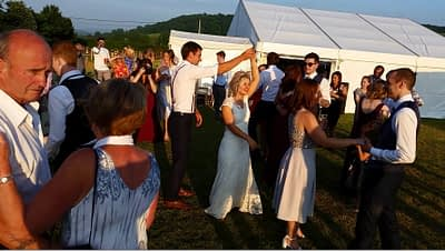 Outdoor First Dance - High gate barns, Bettws - Happy Sounds Mobile Disco