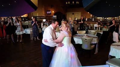 Paula and Ben's Wedding Reception First Dance. Carriages, Oswestry - Happy Sounds Mobile Disco