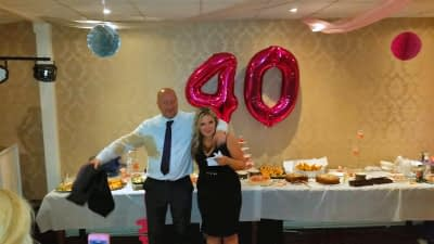 40th Birthday Party - Brosley Cricket Club - Happy Sounds Mobile Disco
