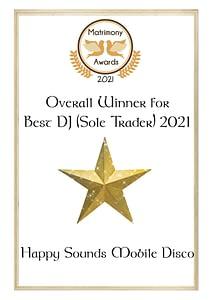 Overall Winner - Best DJ - Matrimony Awards 2021