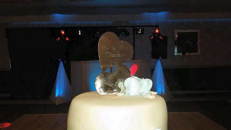 Wedding Cake - Bride and Groom - Maesmawr Hall - Happy Sounds Mobile Disco