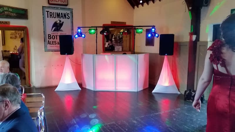 Red Colour-wash Lighting - Happy Sounds Mobile Disco