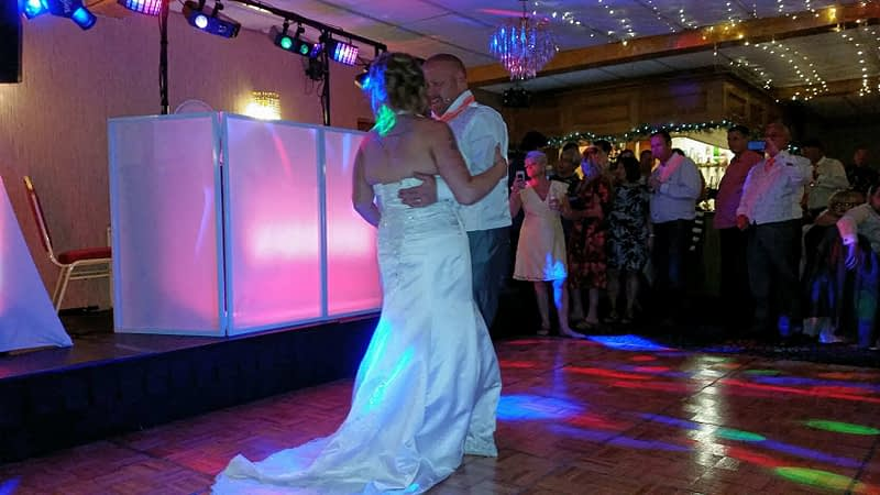 Weddings - Happy Sounds Mobile Disco - First Dance Wedding White Waters Llangollen