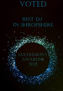 Matrimony Awards 2021 Best DJ IN Shropshire - Happy Sounds Mobile Disco