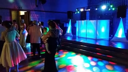 Happy Sounds Mobile Disco - Wedding at Gregynog Hall - Blue Colourwash