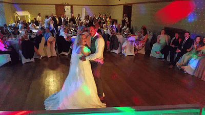 Mr and Mrs Gethin's first dance wedding at Gregynog Hall Newtown - Happy Sounds Mobile Disco
