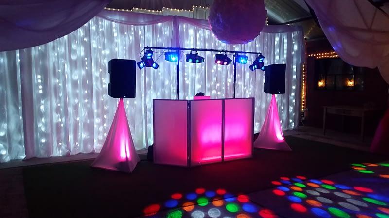 24ft 7.5m LED Star-lit Wedding Backdrop - Happy Sounds Mobile Disco